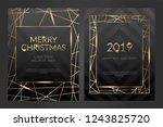 luxury christmas party poster... | Shutterstock .eps vector #1243825720