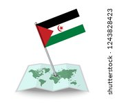 map with flag of sahrawi arab...