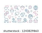 charitable trust vector modern... | Shutterstock .eps vector #1243829863
