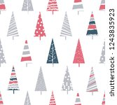seamless pattern with christmas ... | Shutterstock .eps vector #1243835923