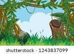 a green jungle landscape... | Shutterstock .eps vector #1243837099