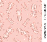 seamless pattern with... | Shutterstock .eps vector #1243838539