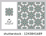 collection greeting cards and... | Shutterstock .eps vector #1243841689