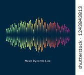 music equalizer abstract... | Shutterstock .eps vector #1243843813