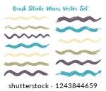 minimalistic brush stroke waves ... | Shutterstock .eps vector #1243844659