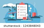 survey vector illustration.... | Shutterstock .eps vector #1243848043