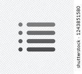 simple list menu icon. on grid...