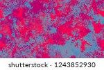 halftone dots in grunge broken... | Shutterstock .eps vector #1243852930