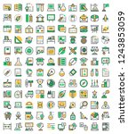 education vector icons set ... | Shutterstock .eps vector #1243853059