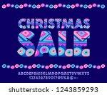 vector modern poster christmas... | Shutterstock .eps vector #1243859293