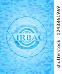 airbag light blue emblem with... | Shutterstock .eps vector #1243861969