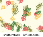 tropical background. green ...   Shutterstock .eps vector #1243866883