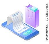 the online bill purchase.... | Shutterstock . vector #1243872466