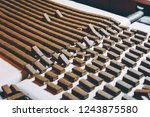 chocolate candy making | Shutterstock . vector #1243875580