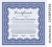 blue certificate of achievement.... | Shutterstock .eps vector #1243891036