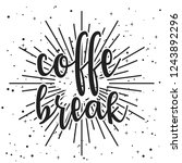 lettering coffee theme with... | Shutterstock .eps vector #1243892296