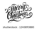 merry christmas lettering.... | Shutterstock .eps vector #1243893880