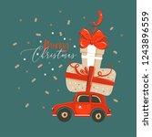 hand drawn vector abstract fun... | Shutterstock .eps vector #1243896559