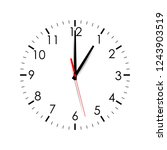 clock dial shows one o'clock... | Shutterstock .eps vector #1243903519