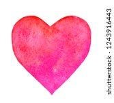 watercolor heart illustration ... | Shutterstock . vector #1243916443