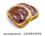 isolated pieces of loaf with... | Shutterstock . vector #1243919293