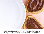 pieces of loaf with chocolate... | Shutterstock . vector #1243919386