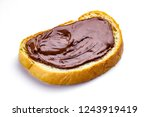 isolated piece of loaf with... | Shutterstock . vector #1243919419