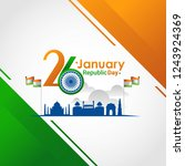 indian republic day 26 january | Shutterstock .eps vector #1243924369