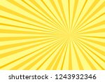 pop art yellow background ... | Shutterstock .eps vector #1243932346