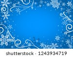 illustration of a blue...   Shutterstock . vector #1243934719