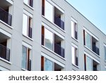 modern apartment buildings on a ... | Shutterstock . vector #1243934800