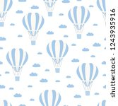 hot air balloon with cloud... | Shutterstock .eps vector #1243935916