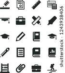 solid black vector icon set  ... | Shutterstock .eps vector #1243938406