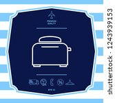 toaster oven linear icon....   Shutterstock .eps vector #1243939153