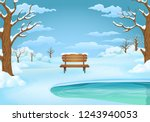 winter day vector illustration. ... | Shutterstock .eps vector #1243940053
