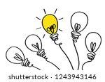 many lamps. light bulbs icon... | Shutterstock .eps vector #1243943146