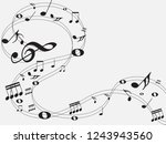 music notes .abstract musical... | Shutterstock .eps vector #1243943560