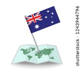 map with flag of australia...