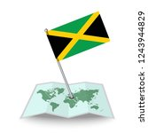 map with flag of jamaica...