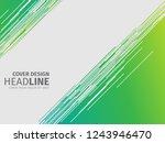 vector green texture background.... | Shutterstock .eps vector #1243946470