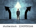 back view of young businessman... | Shutterstock . vector #1243950166