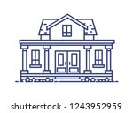 two story residential house... | Shutterstock . vector #1243952959