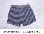 gray striped blue men boxer... | Shutterstock . vector #1243954753