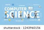 computer science concept...   Shutterstock . vector #1243960156