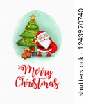 santa clause christmas card   Shutterstock . vector #1243970740