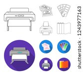 printer  credit card  color... | Shutterstock . vector #1243977163