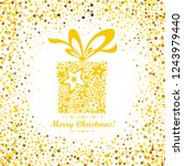 gold text marry christmas.... | Shutterstock .eps vector #1243979440