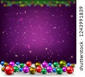 christmas purple background... | Shutterstock .eps vector #1243991839