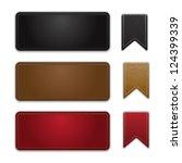 labels leather vector | Shutterstock .eps vector #124399339