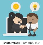 idea of a business person... | Shutterstock .eps vector #1244000410